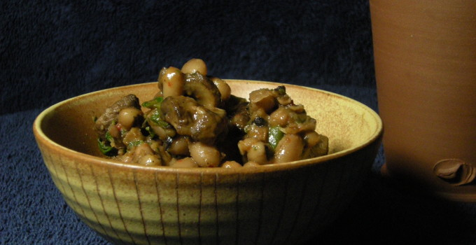 Black-Eyed Peas with Mushrooms