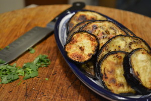 Fried Eggplant Slices - Ready for Sauce