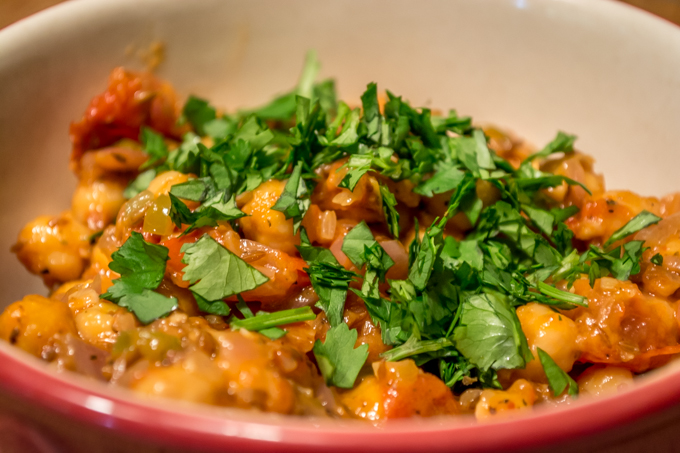 Chickpeas with Cilantro and Cumin