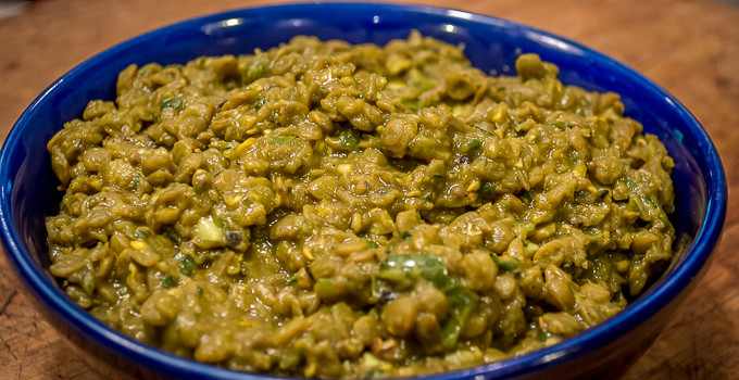 Lentils with Chilies and Black Pepper