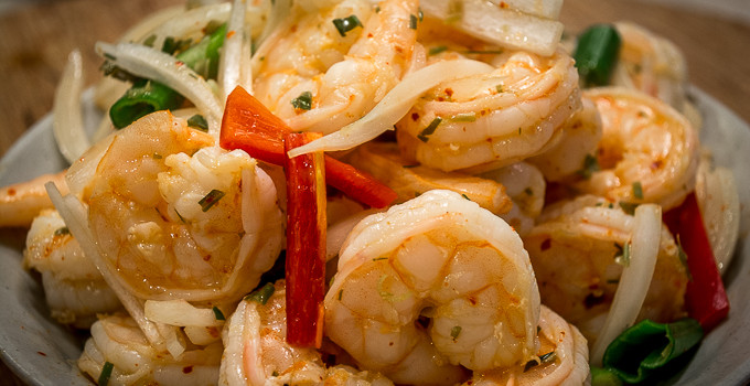 Shrimp with Lemongrass and Chili