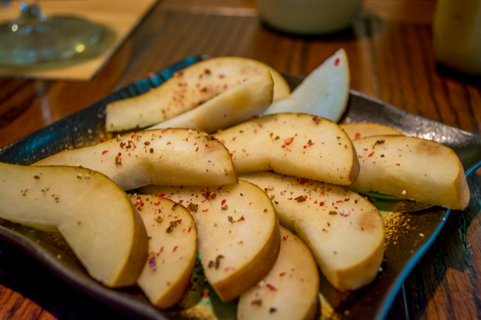 Pears with Peppercorn