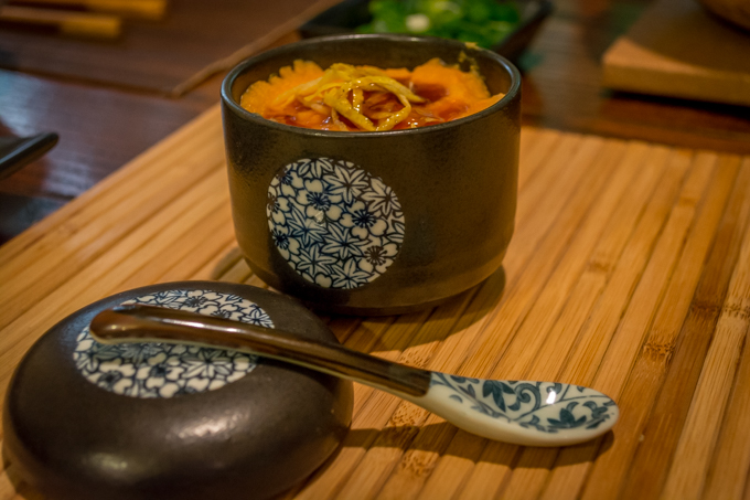 Steamed Mushrooms with Yam